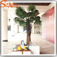 China wholesale cheap artificial fake plastic mini decorative metal date palm trees for models for garden home decoration