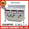 3 tank large capacity fried chicken machine/deep fryer/kfc equipment