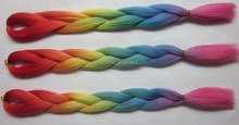 Wholesale cheap tangle free kanekalon x-pression ultra braid hair, colorful ombre afro kinky synthetic ombre marley hair braid