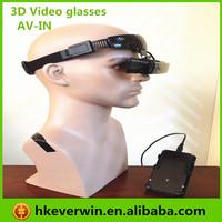 """New released 80""""inch 3d video glasses 16:9 eyewear, 8G memory, AV IN function for ps3 etc"""