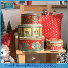 Forest Friends Printed Box Bakery Cookie Gift Holder Three Pieces Tin Box