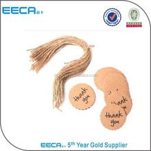 China gold suppliers Hot Sell craft hang tags,brown kraft hang tags, printable tags