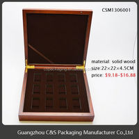 Sales Promotion Elegant Top Quality Hot-Stamping Wood Cigar Boxes Manufacturer