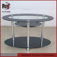 european style black glass and aluminum tube leg TV stand