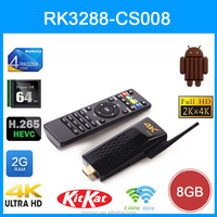 2015 Latest CS008 2GB/8GB Bluetooth/RJ45 Port 4K Android TV Dongle, Quad Core RK3288 with Remote Control Android TV Stick