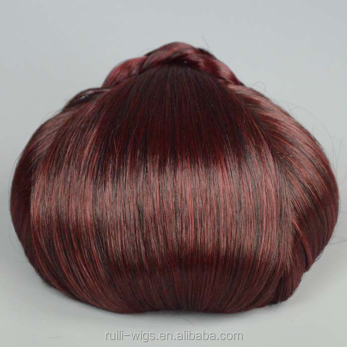 highest quality with low price non remy chinese human hair chignon hair bun