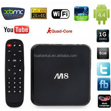 Full HD M8 1080p Porn Sex Video Android TV Set Top Box XBMC EM8 Android 4.4 M8 S802