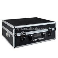 Pro Series DC-C81B Aluminum Photo/Video Hard Shell Case w/Shoulder Strap, Lock & Key (Black/Silver)