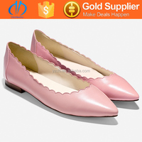 hot for sale new collection ladies fancy flat dress shoes