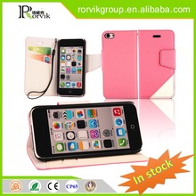 cell phone neck hanging case leather with great price for iPhone 5C