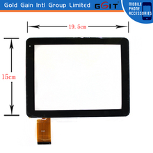 New product China Tablet PC digitizer screen for GK-038 195mm*150mm touch