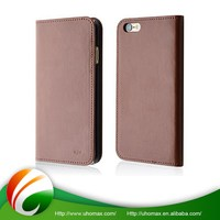 Good Quality Custom Made Luxury Pure Leather Flip Wallet Case For Iphone 5