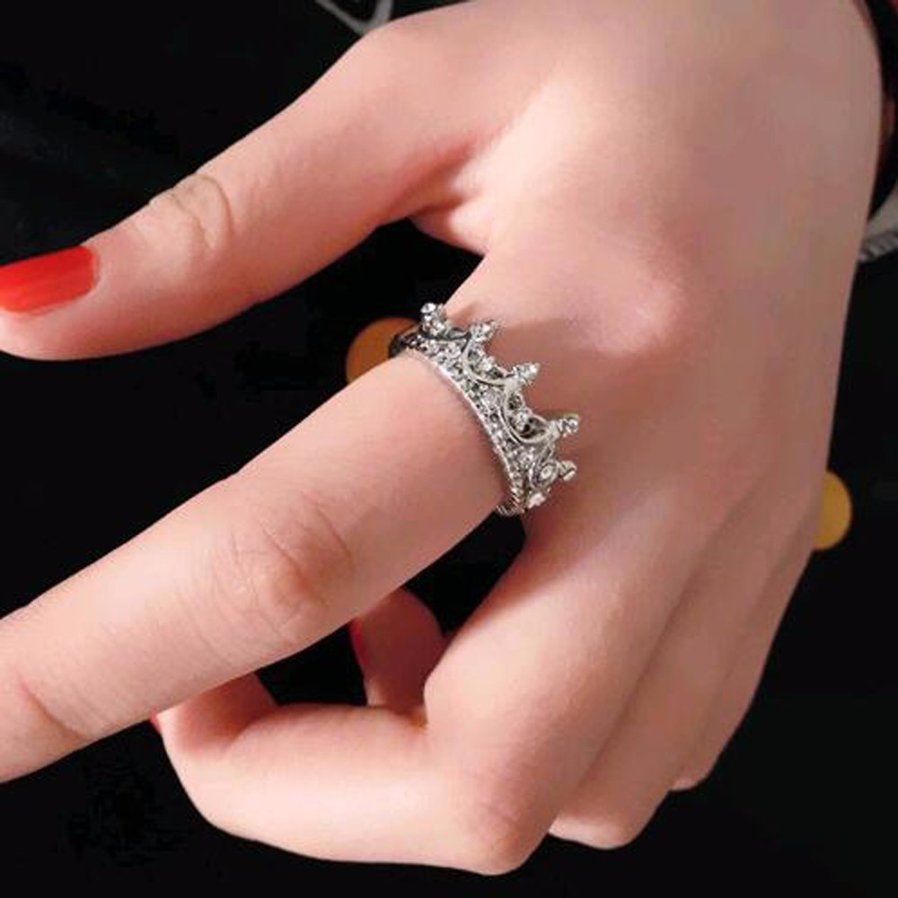 Tr6930-6 Korean Style Retro Crystal Drill Hollow Crown Shaped Queen ...