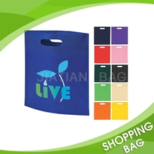 Fancy promotional fashion customized foldable non woven hand punch bag supplier