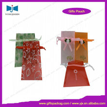 Full plate printing drawstring gift organza pouch/new fashion organza bags