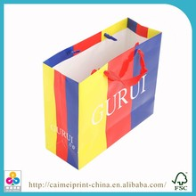 printed luxury paper shopping hand bag