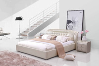 2015 hot sell modern soft leather bed 1333#
