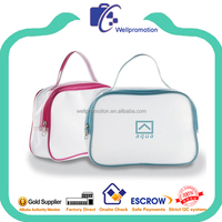 Wellpromotion cheap fashion promotional clear pvc tote wash zipper bag