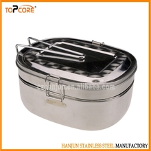 Double Layer Stainless Steel Lunch Box,Fast Food Container