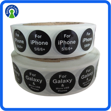 High Quality Custom Roll Glossy Round Paper Sticker, Waterproof Self Adhesive Samsung Logo Sticker