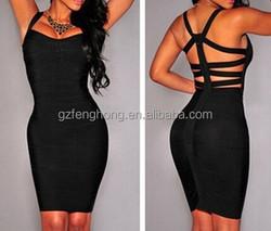 Women High Elastic Black Sleeveless Bandage Dress bandage sexy celebrity backless dress,summer style wholesale drop shipping