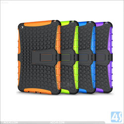 Stylish Cover Case PC & Silicon Rugged Case for iPad mini 4, For iPad mini 4 Cases With Hiden KickStand