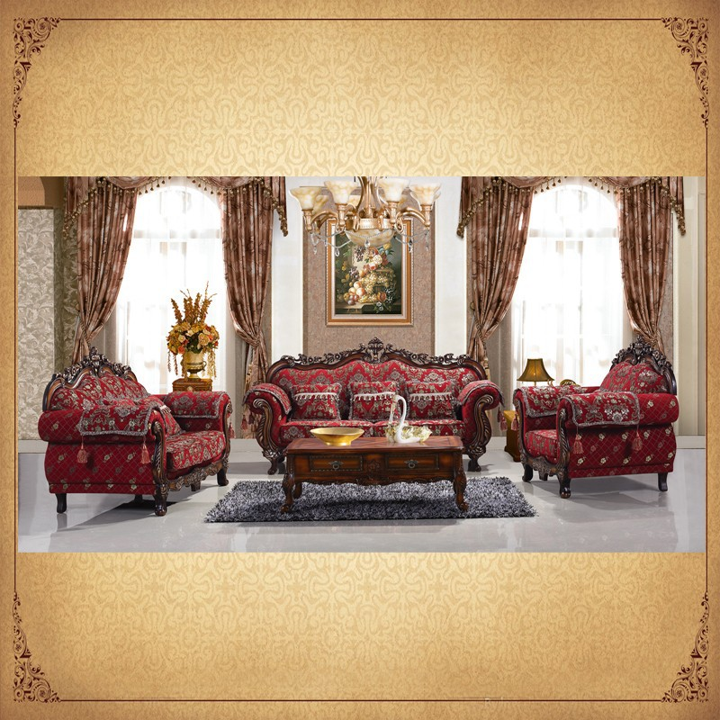 European style living room furniture 1 2 3 solid wood - European style living room furniture ...