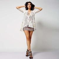 2015 OEM fashion new design see-through polyester girl dress