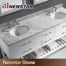 Chinese polished granite marble prefab bathroom double sink countertop