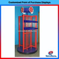Custom design floor standing metal toy display stand