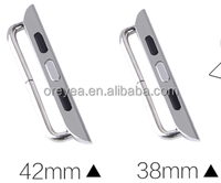 High Quality 42mm 38mm silver watch band connection adapter for apple watch factory wholesale