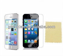High quality protective clear screen protector for iphone 5S screen protector