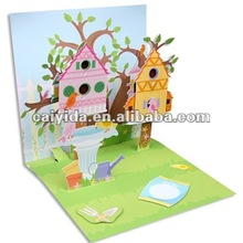 handmade kids 3d story book printing in China