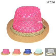 MZ2660 New design pierced kids fancy crochet hats 2015
