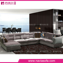 Home furniture comfortable fashion and cheap european fabric big corner 7 seater sofa set designs and prices