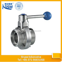 manual ss screw end butterfly valve