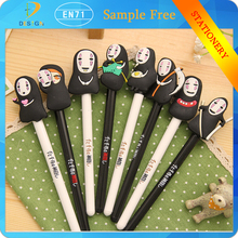 Japanese cartoon anime black/white Cute anime 0.5mm writing point No face male cartoon fountain pen for promotion