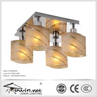 Glass incandescent ceiling luminaire