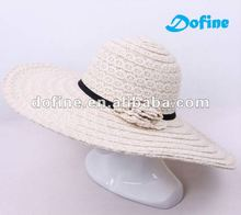 fashionfashion girl/lady wide brim hat, PP + Lace beach hat,DFV-PH-051