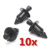 10pcs 6mm Black Plastic Rivet Fairing Trim Panel Auto Fastener Clips For Honda /Yamaha /Suzuki