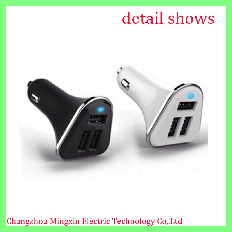 triple universal usb car charger adapter 3 usb mobile charger for car