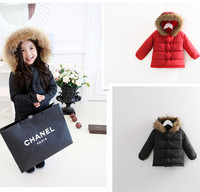 winter parka formal kids fashion for girls red winter coats