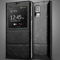 Genuine Flip Leather Cover for Samsung Galaxy Note 4 Flip Covers