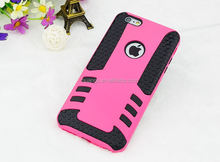 Mobile accessories Tyre grain heavy duty rocket design PC&TPU case for apple iphone 6 rugged armor case china suppliers