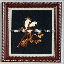 Carbón activado de foto decoración( libélula flor) para ornamento de la casa
