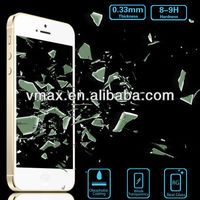 Factory Price 0.33mm For iPhone 5 holographic screen protector (Glass Shield)