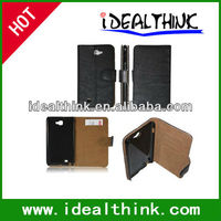 pu leather case for samsung galaxy note i9220