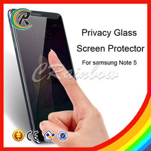 New arrival privacy glass screen protector for samsung galaxy note 5 electric glass privacy