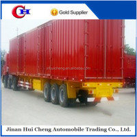 2015 two or three axles 60 ton/ 70 ton /80ton /90 ton enclosed cargo van/box type semi truck trailers with factory produce