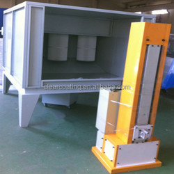 Best selling competitive price powder spray booths with unique reverse pulse extraction and cleaning system high quality